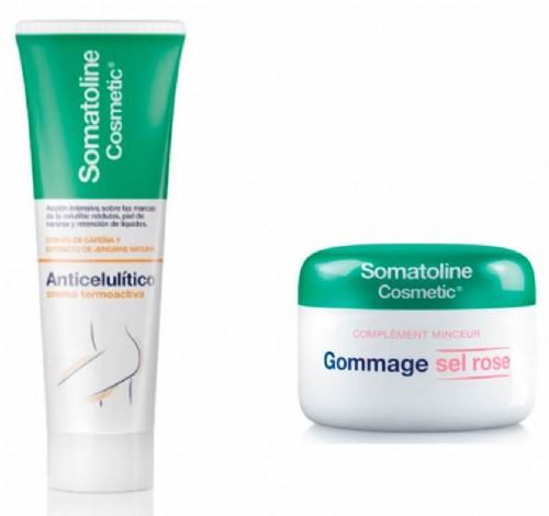 Somatoline crema Termoactiva 250ml+Regalo Exfoliante corporal scrub pink salt 350g