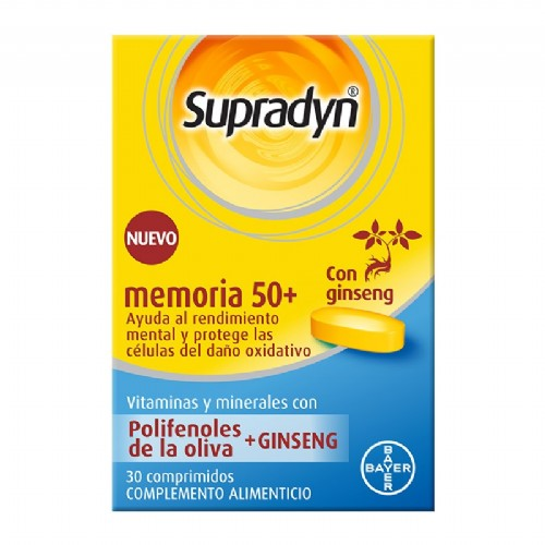 Supradyn memoria 50+ (30 comprimidos)