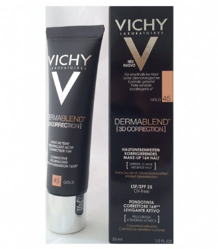 Dermablend 3d correction spf 15 oil free - vichy cosmetica correctora (tono 45)