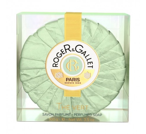 Roger & gallet jabon perfumado - te verde (100 g pastilla)