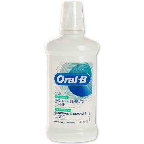 Oral-b enjuague bucal encias & esmalte care (menta fresca 500 ml)