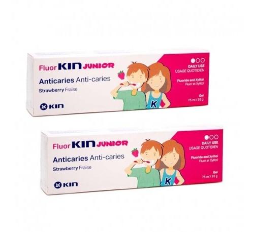 Fluor kin junior gel (fresa 75 ml)