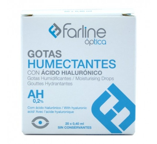 Farline optica gotas humectantes ah 0.2% - gotas oftalmicas esteriles (0.4 ml monodosis 20 u)