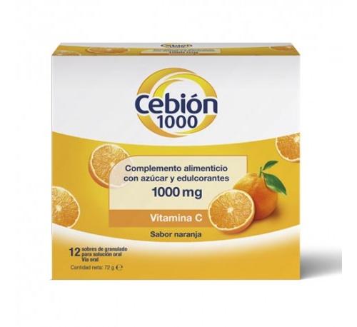 Cebion 1000 granulado solucion oral (12 sobres)