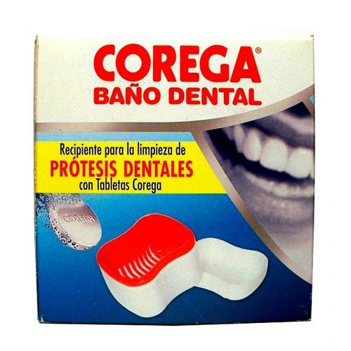 Corega recipiente baã'o dental