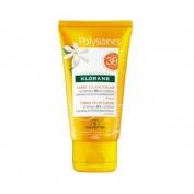 Klorane polysianes al tamanu bio y al monoï - crema sublimadora solar spf30 rostro (50 ml)