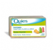 Tapones oidos espuma fluo - quies (6 u)