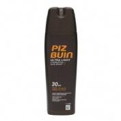 Piz buin spray solar hidratante ultra light - proteccion alta spf -30 (200 ml)