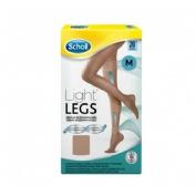 Medias e.t. cint comp ligera 20 den - scholl light legs (carne t- media)