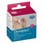 Esparadrapo hipoalergico - omniplast (tejido resistente blanco 5 m x 2,50 cm)