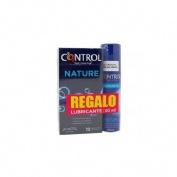 Control nature + pleasure gel - preservativos +lubricante (12 preservativos + 50 ml)
