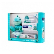 Vitis baby pack cepillo dental + gel calmante (30 ml + gadget + dedal)