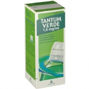 TANTUM VERDE 1,5 mg/ml SOLUCION PARA GARGARISMOS Y ENJUAGUE BUCAL , 1 frasco de 240 ml