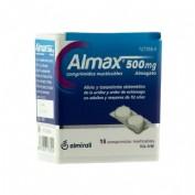 ALMAX 500 mg COMPRIMIDOS MASTICABLES,18 comprimidos
