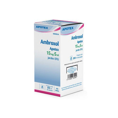 AMBROXOL APOTEX 3 MG/ ML JARABE EFG , 1 frasco de 200 ml