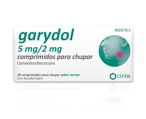 GARYDOL 5mg/2mg COMPRIMIDOS PARA CHUPAR , 20 comprimidos