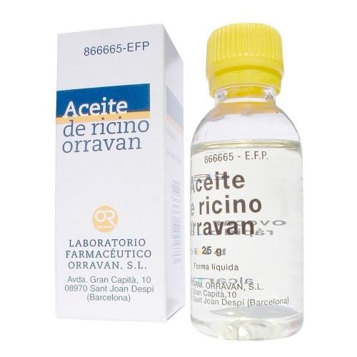 ACEITE RICINO ORRAVAN 1g/ml LIQUIDO ORAL , 1 frasco de 25 g