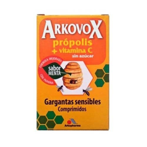 Arkovox propolis + vitamina c (20 comp sabor menta)