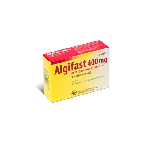 ALGIFAST 400 mg POLVO PARA SUSPENSION ORAL, 4 sobres