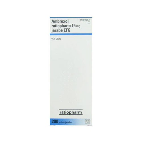 AMBROXOL RATIOPHARM 3 mg/ ml JARABE EFG , 1 frasco de 200 ml