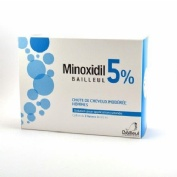 MINOXIDIL BIORGA 20 MG/ML SOLUCION CUTANEA , 1 frasco de 60 ml y 1 accionador con boquilla y 1 accio
