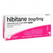 HIBITANE 5MG/5MG COMRPIMIDOS PARA CHUPAR SABOR ANIS, 20 comprimidos