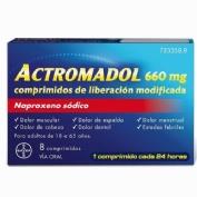 "Actromadol 660 mg 8 comprimidos de liberaciã""n modificada"