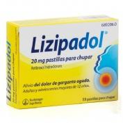 LIZIPADOL 20 mg PASTILLAS PARA CHUPAR , 18 pastillas