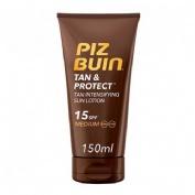 Piz buin tan & protect fps - 15 proteccion media - locion solar intensificadora de bronceado (150 ml