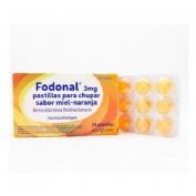 FODONAL 3 MG PASTILLAS PARA CHUPAR SABOR MIEL-NARANJA 24 pastillas